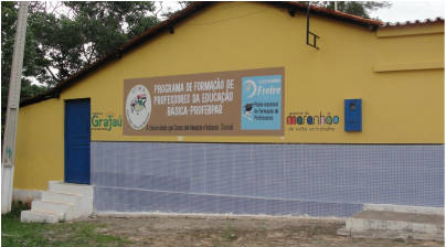 Fachada do Campus Provisório da UFMA